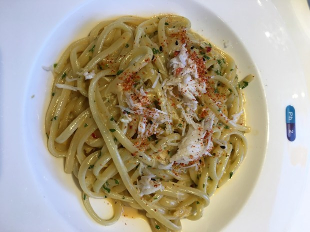 Pharmacy 2 - Portland crab with linguine