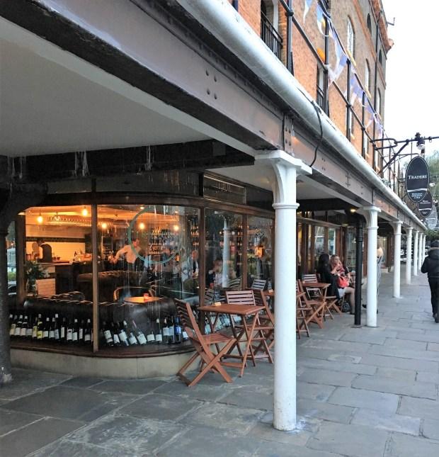Traders Wine Bar's corner location