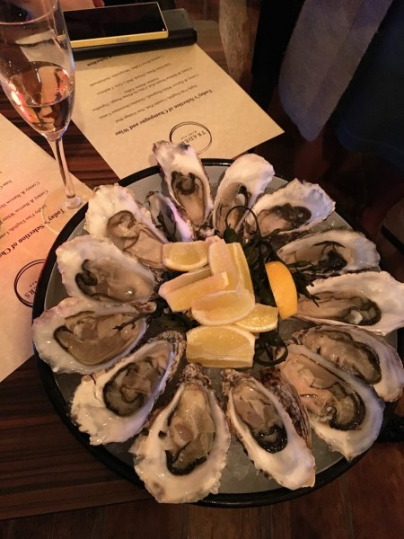 Trader's Wine Bar - Wright Brothers' oysters and Digby Wines' pink sparkling