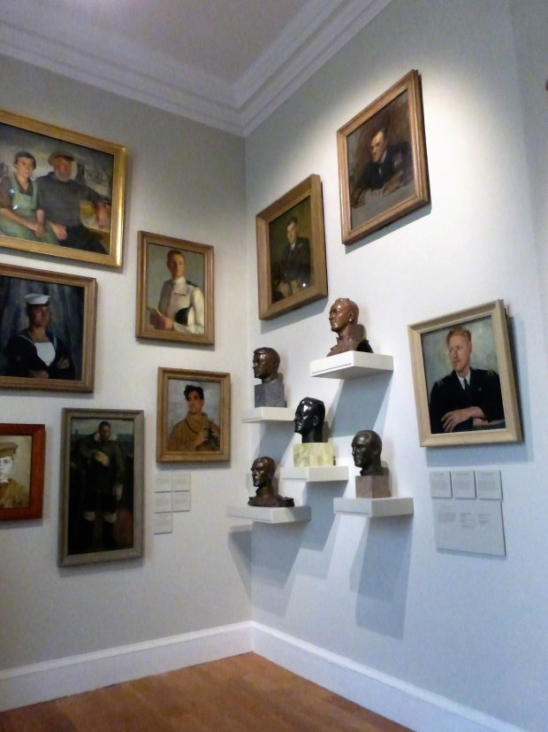 Queen's House - A room called Face of War with 'ordinary' navy men