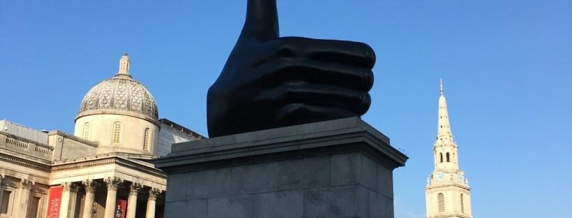 David Shrigley - Thumbs Up (Trafalgar Square, London)