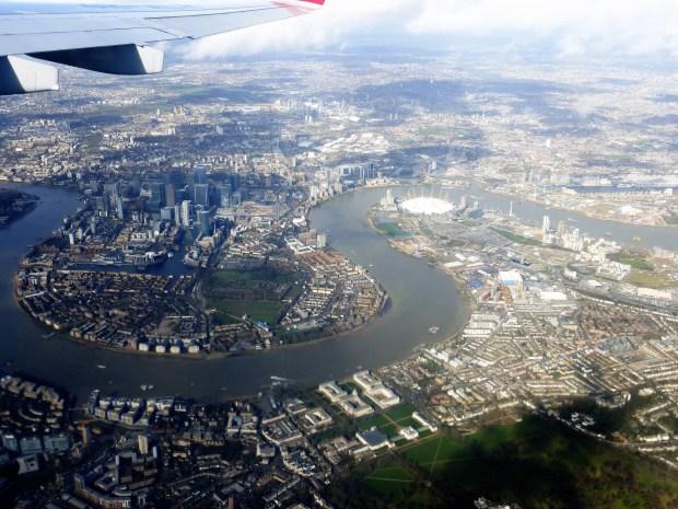 London from an aeroplane