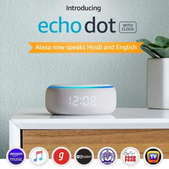 Echo Dot (3rd Gen) with clock-technote
