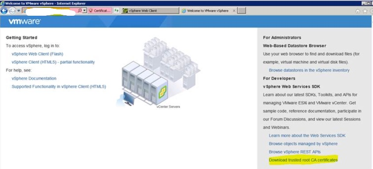 VMware vCenter Server 6 5 – Unable to upload files to