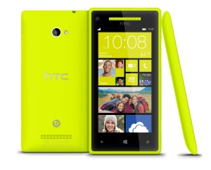 WP 8X by HTC Limelight Yellow 3views