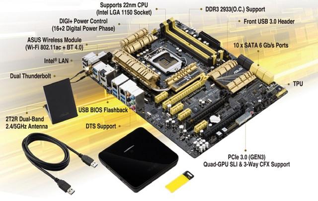 Z87-Deluxe-Dual board detail