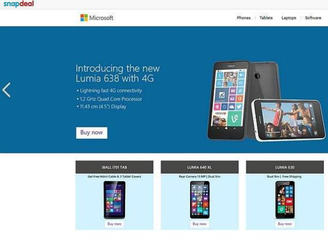 microsoft online store snapdeal