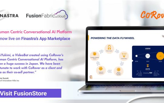 CoRover launches Human Centric Conversational AI Platform app on Finastra's FusionFabric.cloud