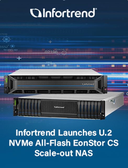 Infortrend Launches U.2 NVMe Scale-out NAS Solution