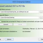 Outil gratuit pour convertir OST en PST
