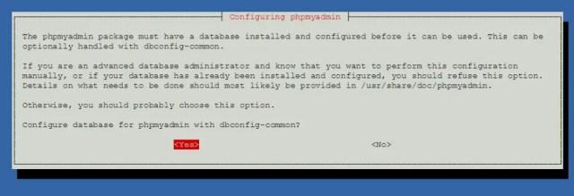 Install phpMyAdmin on Debian 9 - Database for phpMyAdmin