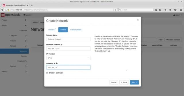 Configure OpenStack Networking - Create OpenStack External Subnet