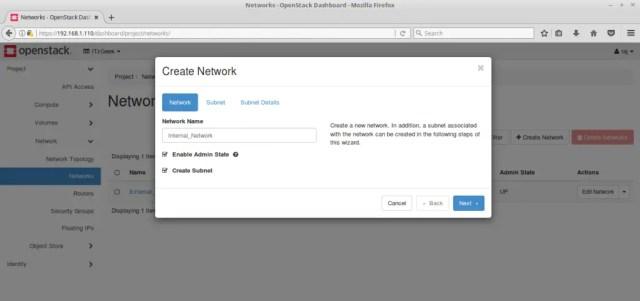 Configure OpenStack Networking - Create OpenStack Internal Network