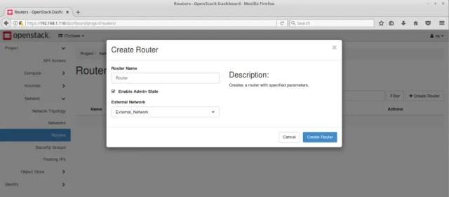 Configure OpenStack Networking - Create OpenStack Router