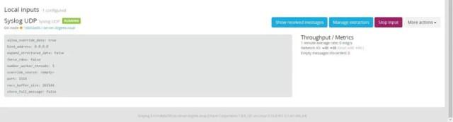Install Graylog 3.0 on CentOS 7 - Greylog Input Status