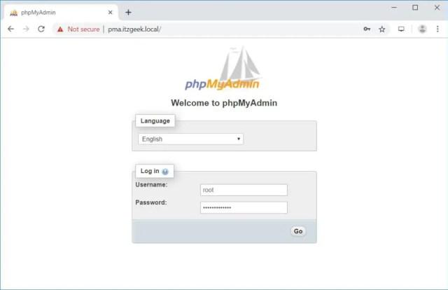 Install phpMyAdmin with Nginx on RHEL 8 – phpMyAdmin Login Page