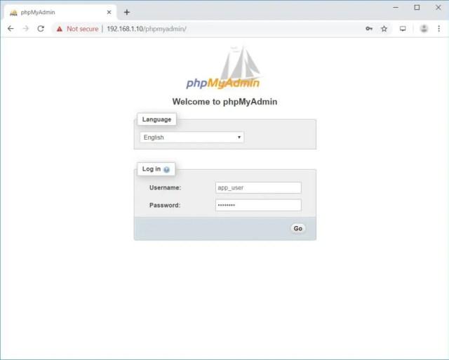 Install phpMyAdmin on Debian 10 - phpMyAdmin Login Page
