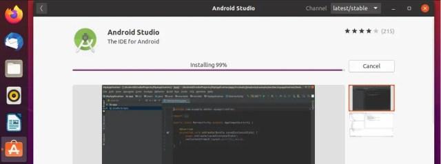 Android Studio Installation In Progress
