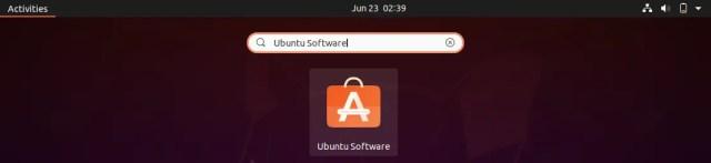 Open Ubuntu Software