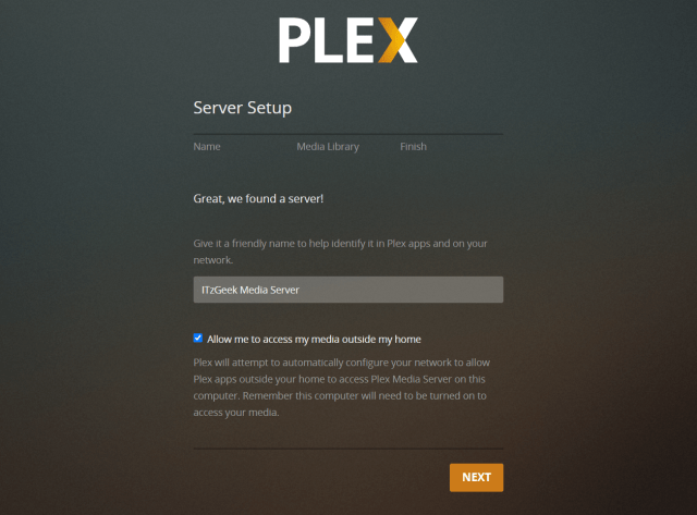 Plex Media Server Name