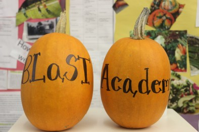 Picture of Pumpkins with Blast Academy written on them
