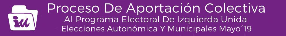 Banner Programa electoral mayo 2019