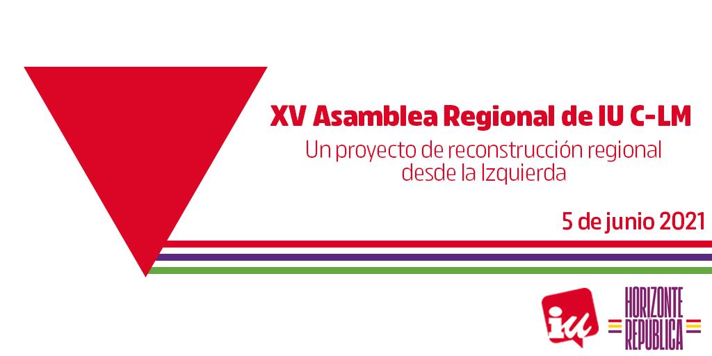 Cartela XV Asamblea Regional IU CLM