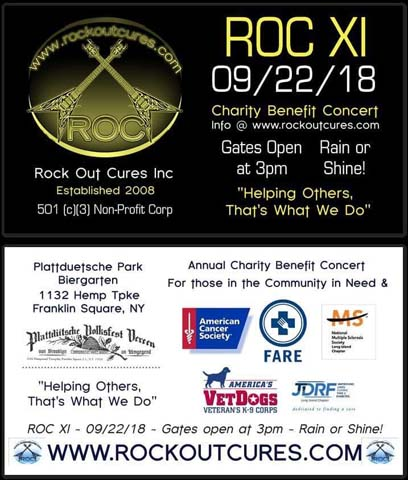 L1 All members of Local One are invited to Roc Out Cures on September 22nd.