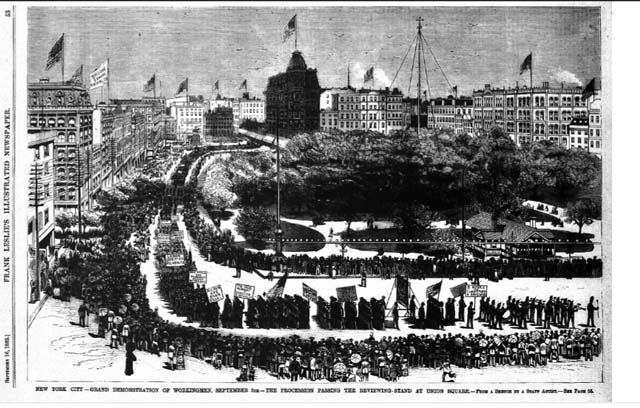 L12 First Labor Day Parade September 1882 NYC