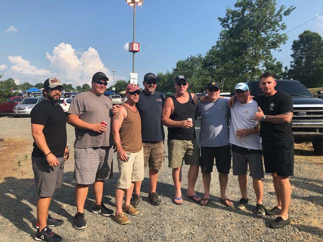 L135 A motley crew before the Skynyrd concert back in July.
