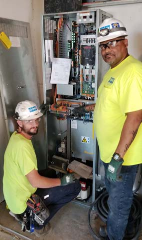 L139 Jeff Rankin and Ray Remak installing and wiring controllers