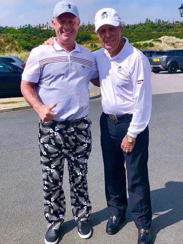 L50 Jim Porter and Gary Player at Turnberry before playing Trump International in Scotland.