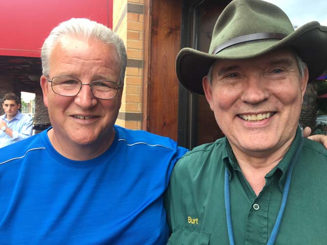 L6 Recent retirees Alan Hupp and Burt Calhoon