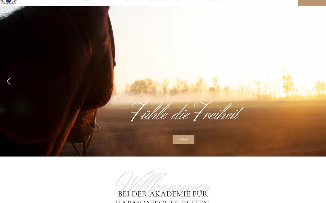 """Neue Website für die """"Pferdeflüsterin"""" Nadine Plaumann: Harmonisches Reiten"""