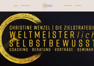 Neue Website für Deutschlands erfolgreichste Sportschützin: Christine Wenzel