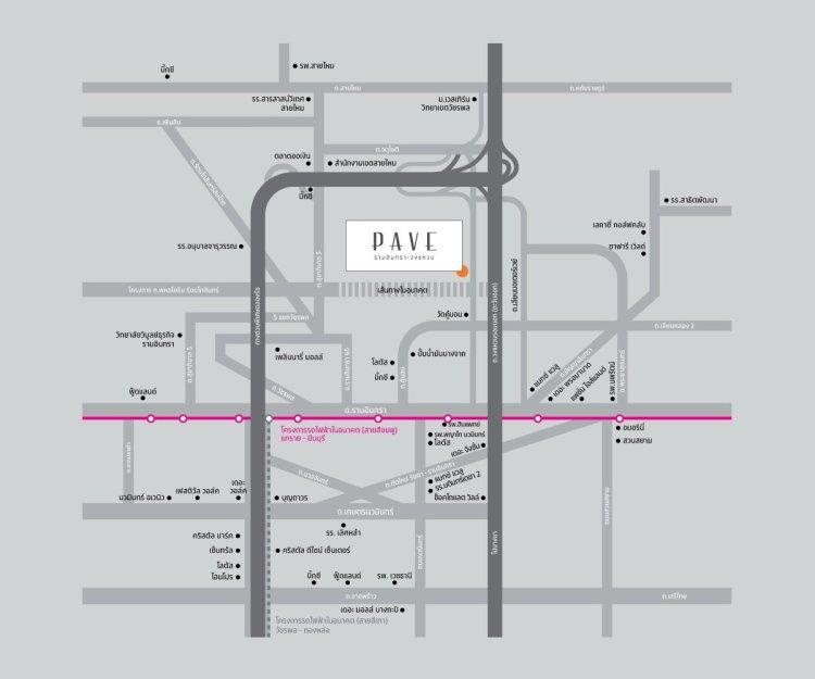 PAVE RW present map 2 750x625 PAVE (เพฟ) รามอินทรา วงแหวน ส่องบ้านเดี่ยวสไตล์รีสอร์ทบนทำเลดีจาก SC Asset