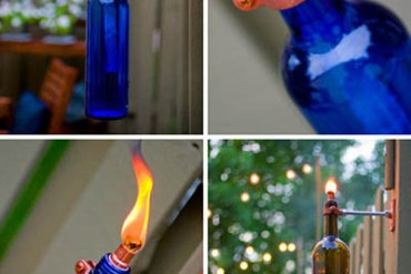 DIY:Recycled Wine Bottle Torch 18 - DIY
