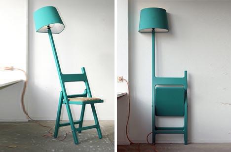 Folding Chair + Floor Lamp Design Fusion 13 - chair