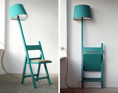 Folding Chair + Floor Lamp Design Fusion 27 - chair