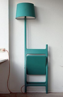 %name Folding Chair + Floor Lamp Design Fusion