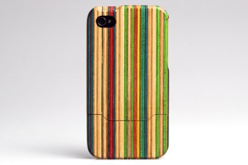 Skateboard iPhone 4 case 13 - bamboo
