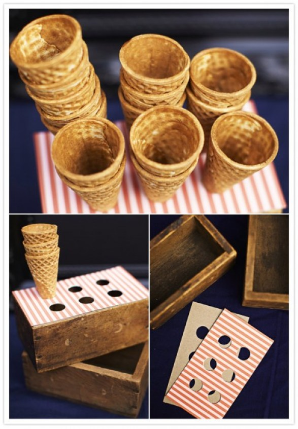 DIY ice cream cone holders 14 - Ice craem