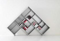 book shelves pyramid book storage