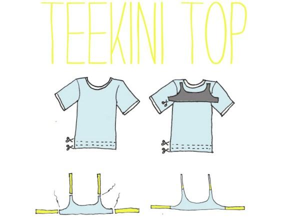 Teekini บิกีนี่ทำเองจากเสื้อยืดตัวเก่า 14 - bikini
