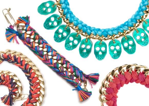 wovenbracelet12 580x415 DIY Woven Chain Bracelet
