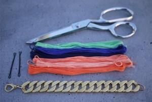 wovenbracelet2 300x203 DIY Woven Chain Bracelet