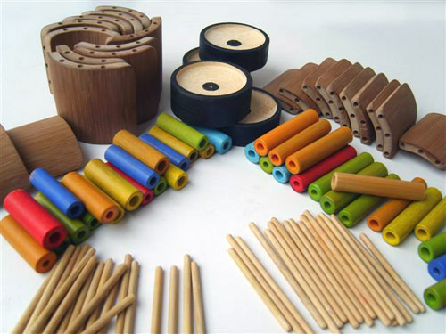 25 Bamboo toy workshop in China
