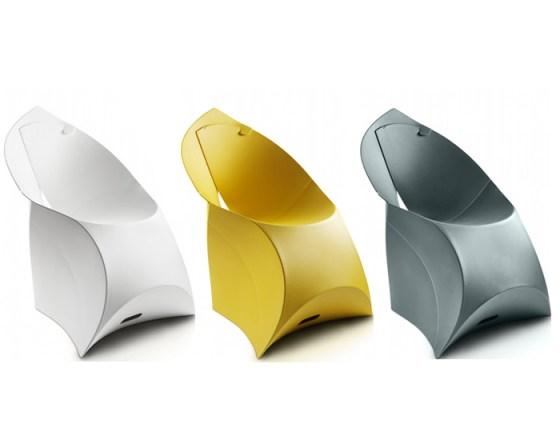 fluxchairgreyyellowwhite Flux Chair..เก้าอี้จากไอเดียงานพับกระดาษของญี่ปุ่น พับเก็บง่าย น้ำหนักเบา ไม่เปลืองที่