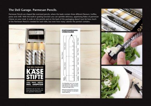 parmesan cheese cheese pencils preview 580x409 Cheese Pencil..ดินสอชีสพกติดตัวพร้อมกบเหลา
