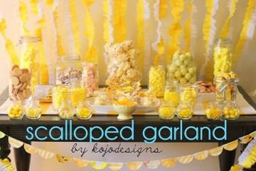 D.I.Y.Scalloped Garland สายรุ้งสำหรับปาร์ตี้ ทำเองได้ง่ายจัง 2 - garland